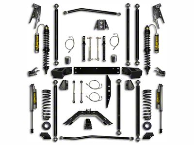 Rock Krawler 3.5 in. Off-Road Pro Coilover Long Arm Suspension Lift Kit w/ 6 in. Stretch - Stage 1 (07-18 Jeep Wrangler JK 2 Door)