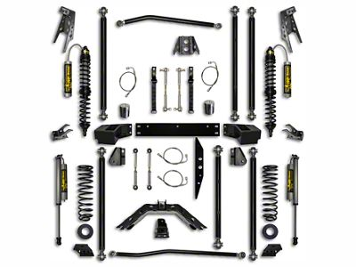 Rock Krawler 3.5 in. Off-Road Pro Coilover Long Arm Suspension Lift Kit w/ 6 in. Stretch - Stage 2 (07-18 Jeep Wrangler JK 2 Door)