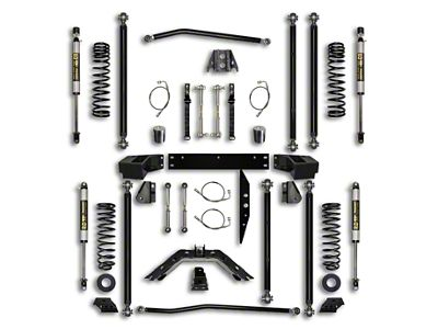 Rock Krawler 3.5 in. Off-Road Pro Long Arm Suspension Lift Kit - Stage 1 (07-18 Jeep Wrangler JK 4 Door)