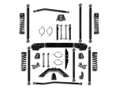 Rock Krawler 3.5 in. Off-Road Pro Long Arm Suspension Lift Kit w/ 6 in. Stretch (07-18 Jeep Wrangler JK 2 Door)