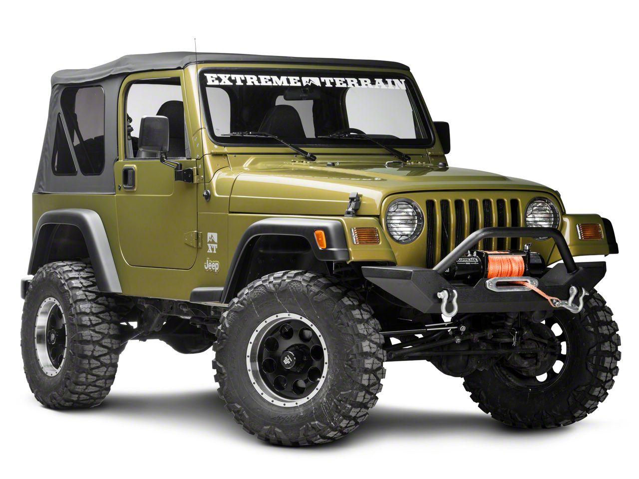 Rugged Ridge 6-Piece Stone Guard Set - Black (97-06 Jeep Wrangler TJ)