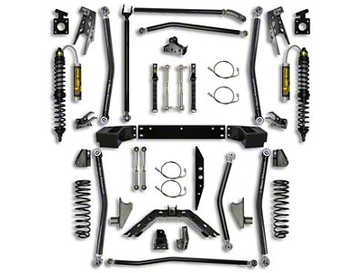 Rock Krawler 4.5 in. Coilover Long Arm Suspension Lift Kit w/ 6 in. Stretch - Stage 2 (07-18 Jeep Wrangler JK 2 Door)