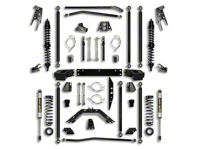 Rock Krawler 4.5 in. Off-Road Pro Coilover Long Arm Suspension Lift Kit - Stage 1 (07-18 Jeep Wrangler JK 2 Door)