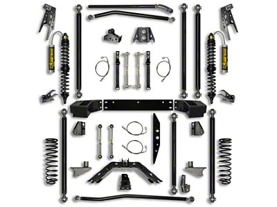 Rock Krawler 4.5 in. Off-Road Pro Coilover Long Arm Suspension Lift Kit w/ 6 in. Stretch - Stage 2 (07-18 Jeep Wrangler JK 2 Door)