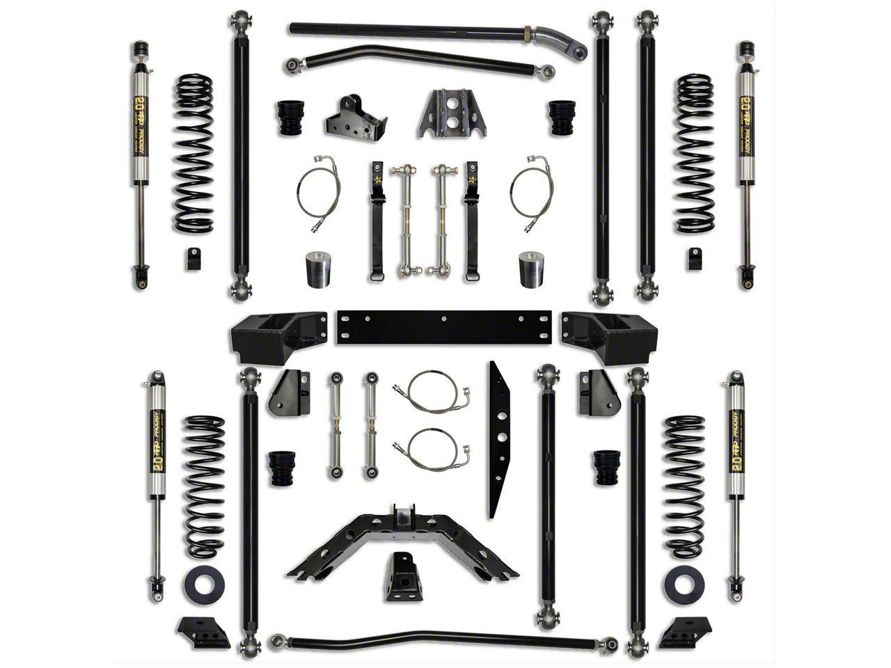 Rock Krawler 4.5 in. Off-Road Pro Long Arm Suspension Lift Kit - Stage 1 (07-18 Jeep Wrangler JK 2 Door)
