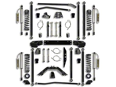 Rock Krawler 4.5 in. Off-Road Pro Long Arm Suspension Lift Kit - Stage 2 (07-18 Jeep Wrangler JK 2 Door)
