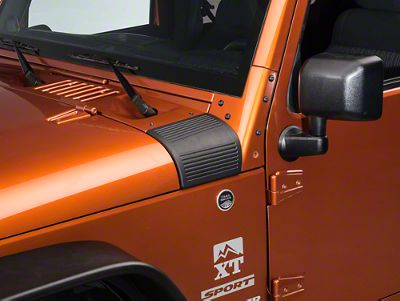 Rugged Ridge Black Cowl Body Armor - Pair (07-18 Jeep Wrangler JK)