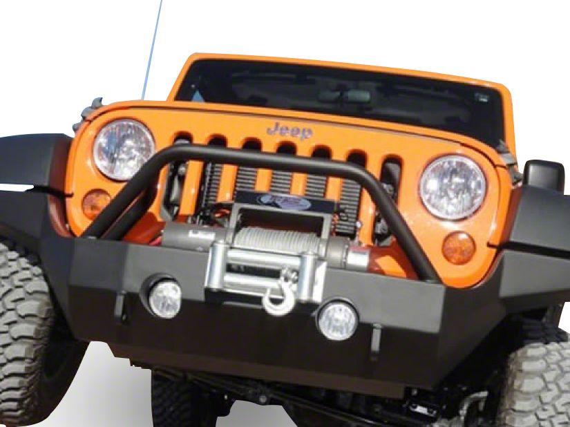 M.O.R.E. Full Width Rock Proof Hi-Clearance Front Bumper w/ Tube Work - Bare Steel (07-18 Jeep Wrangler JK)