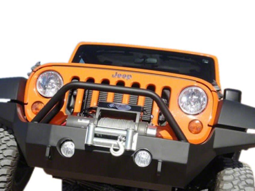 M.O.R.E. Full Width Rock Proof Hi-Clearance Front Bumper w/o Tube Work - Black (07-18 Jeep Wrangler JK)