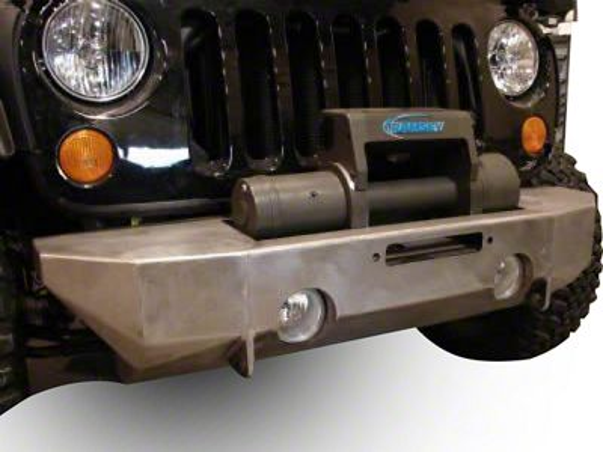 M.O.R.E. Rock Proof Front Bumper w/o Tube Work - Bare Steel (07-18 Jeep Wrangler JK)