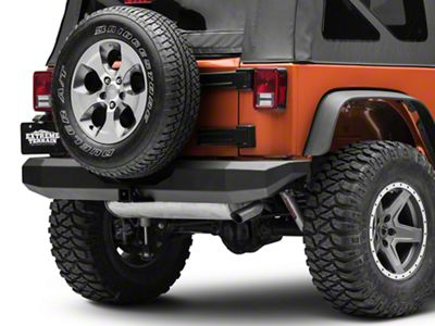 M.O.R.E. Rock Proof Rear Bumper - Black (07-18 Jeep Wrangler JK)