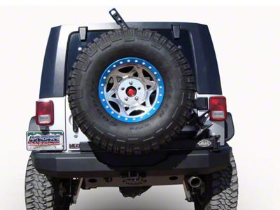 M.O.R.E. Rock Proof Rear Bumper w/ Tire Carrier - Black (07-18 Jeep Wrangler JK)