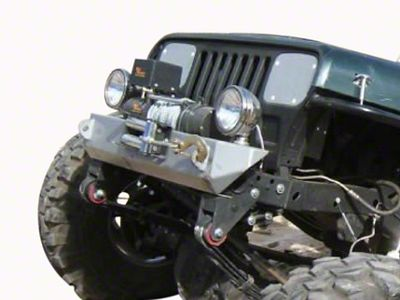 M.O.R.E. Rock Proof Stubby Front Bumper - Bare Steel (87-95 Jeep Wrangler YJ)