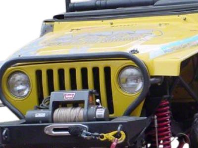 M.O.R.E. Rock Proof Stubby Front Bumper - Bare Steel (97-06 Jeep Wrangler TJ)