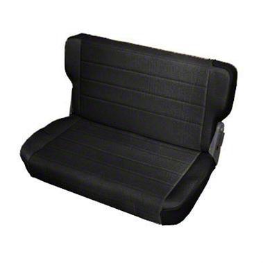 Smittybilt Rear Standard Seat - Black Denim (87-95 Jeep Wrangler YJ)