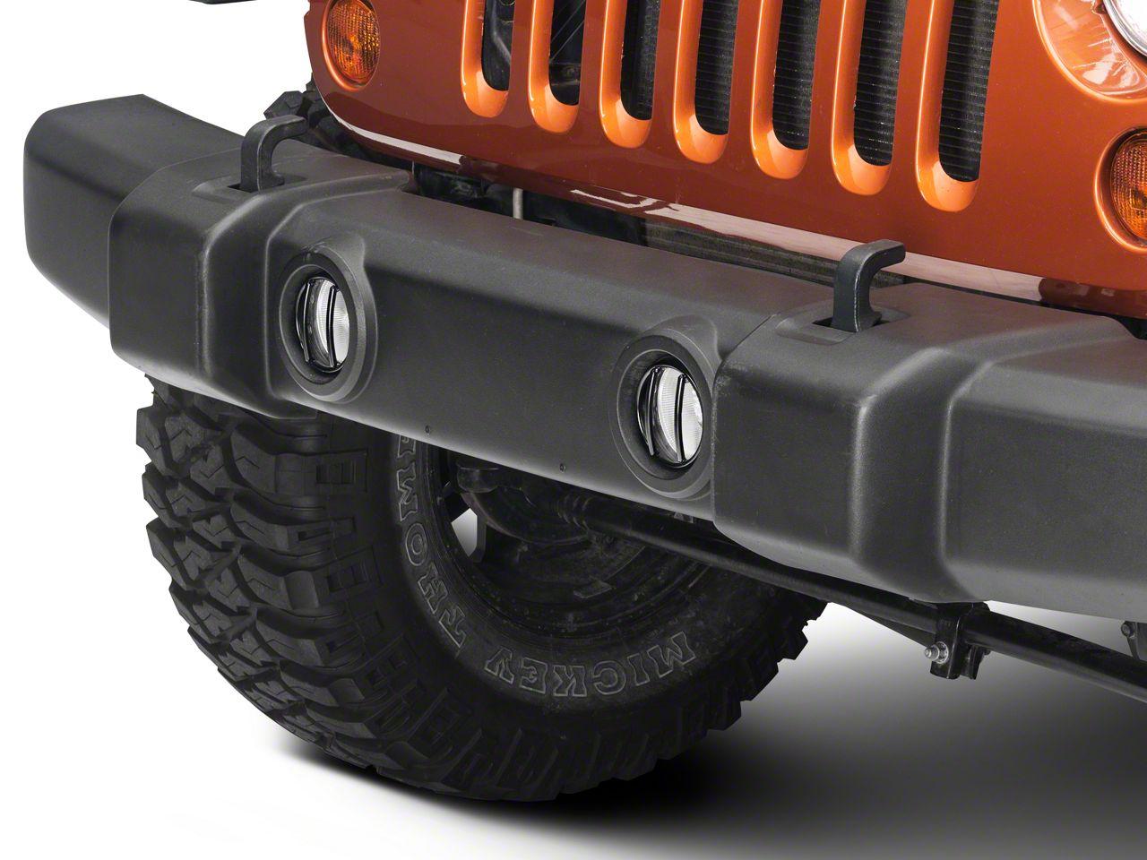 Rugged Ridge Euro Fog Light Guards - Black (07-18 Jeep Wrangler JK)