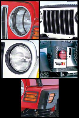 Rugged Ridge Black 17 Piece Euro Guard Light Kit (97-06 Jeep Wrangler TJ)