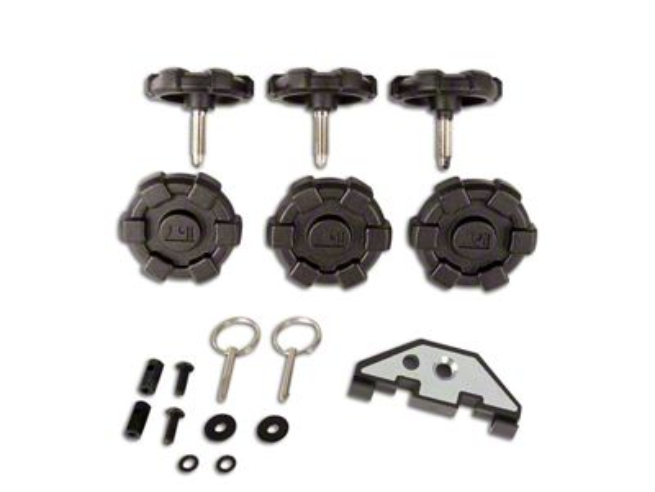 Rugged Ridge Elite Hardtop Quick Removal Kit (07-18 Jeep Wrangler JK 4 Door)