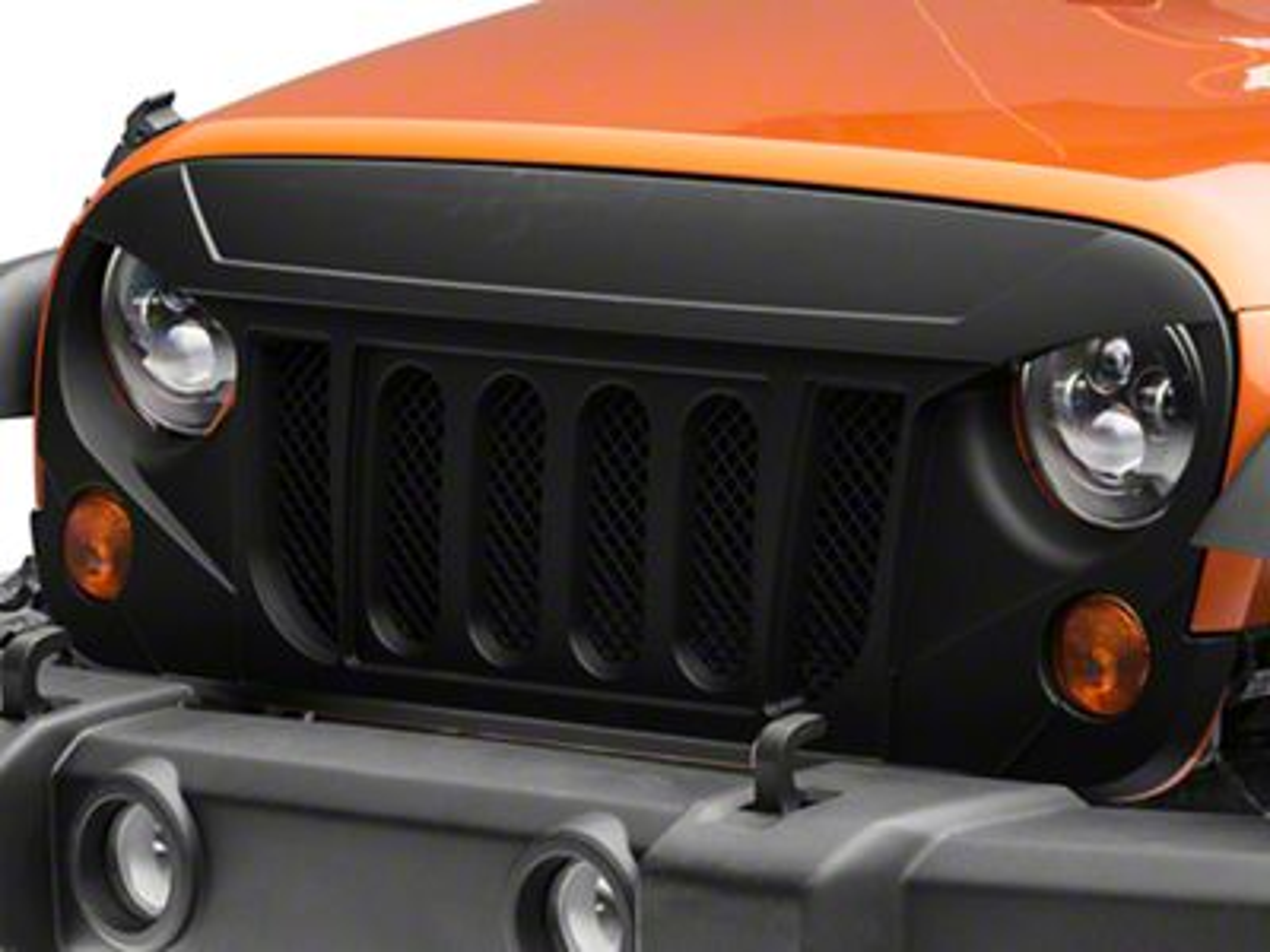 RedRock 4x4 Avenger Grille - Matte Black (07-18 Jeep Wrangler JK)