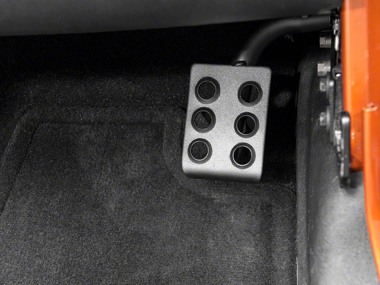RedRock 4x4 Dead Pedal - Passenger Side (07-18 Jeep Wrangler JK)