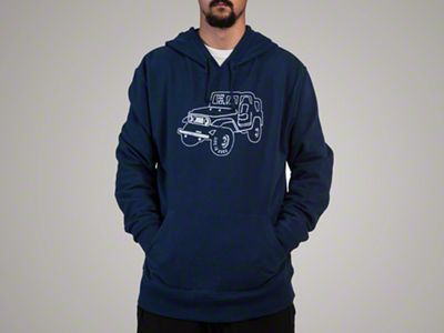 Life is Good Men's ATV Go-To Hoodie - Blue