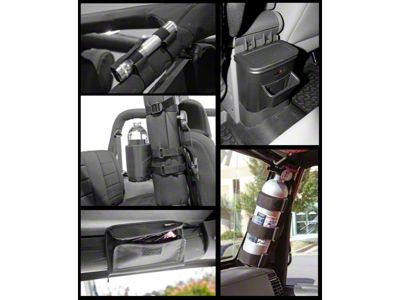 Rugged Ridge Interior Storage Kit - Black (07-10 Jeep Wrangler JK)