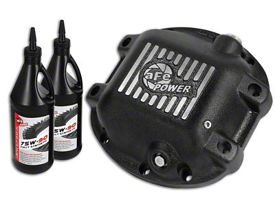 AFE Pro Series Rear Differential Cover w/ 75w-90 Gear Oil for Dana 30 (97-18 Jeep Wrangler TJ & JK)