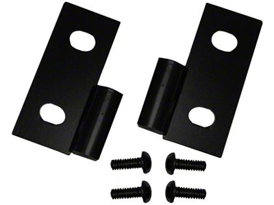 Rugged Ridge Black Lower Door Hinge - Pair (87-06 Jeep Wrangler YJ & TJ)
