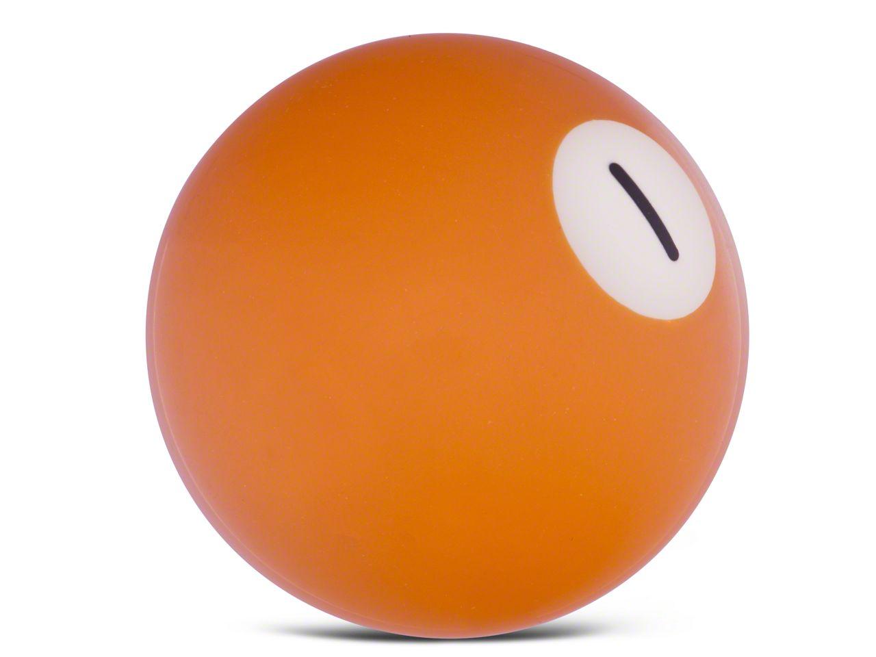 RedRock 4x4 1 Ball Yellow Solid Billiard Shift Knob (97-06 Jeep Wrangler TJ)