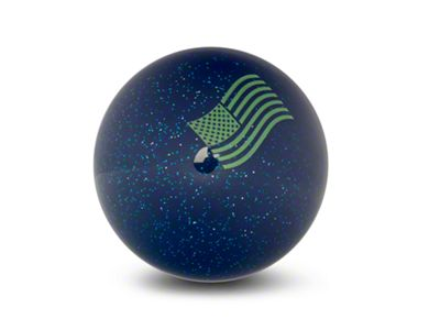 RedRock 4x4 Green American Flag Waving Blue Shift Knob with Metal Flake (87-18 Jeep Wrangler YJ, TJ & JK)