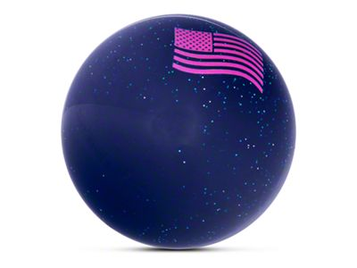 Alterum Pink American Flag Waving Blue Shift Knob with Metal Flake (87-18 Jeep Wrangler YJ, TJ & JK)