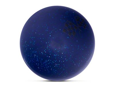 Alterum Black Checkered Flags Blue Shift Knob with Metal Flake (87-18 Jeep Wrangler YJ, TJ & JK)