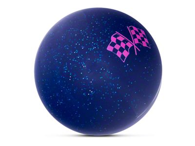 Alterum Pink Checkered Flags Blue Shift Knob with Metal Flake (87-18 Jeep Wrangler YJ, TJ & JK)