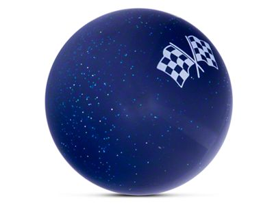 Alterum White 2 Checkered Race Flags Blue Shift Knob with Metal Flake (87-18 Jeep Wrangler YJ, TJ & JK)