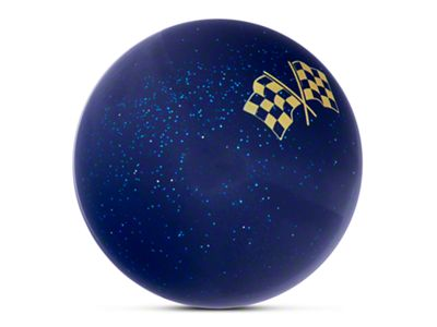 Alterum Yellow 2 Checkered Race Flags Blue Shift Knob with Metal Flake (87-18 Jeep Wrangler YJ, TJ & JK)