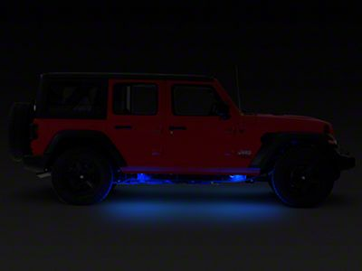 KC HiLiTES 6 Cyclone LED Rock Light Kit - Blue (07-18 Jeep Wrangler JK; 2018 Jeep Wrangler JL)