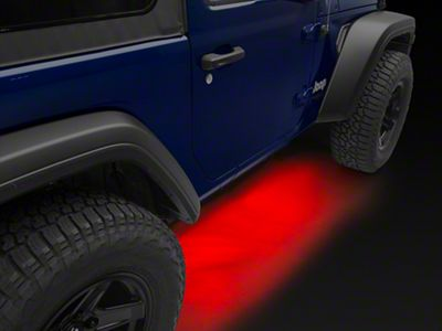 KC HiLiTES 6 Cyclone LED Rock Light Kit - Red (07-18 Jeep Wrangler JK; 2018 Jeep Wrangler JL)
