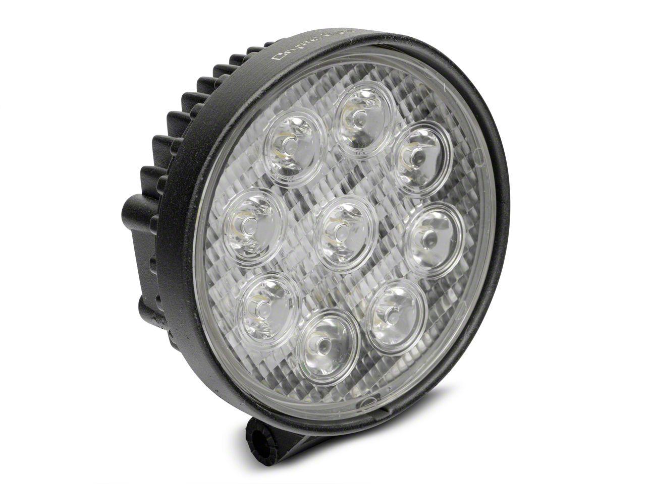 Alteon 4 in. Work Visor 9 LED Round Light - 30 Degree Flood Beam