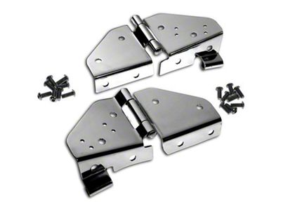 RT Off-Road Windshield Hinges - Stainless (87-95 Jeep Wrangler YJ)