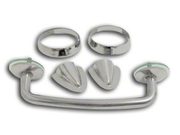 RT Off-Road Windshield Tie Down Kit - Stainless (97-06 Jeep Wrangler TJ)