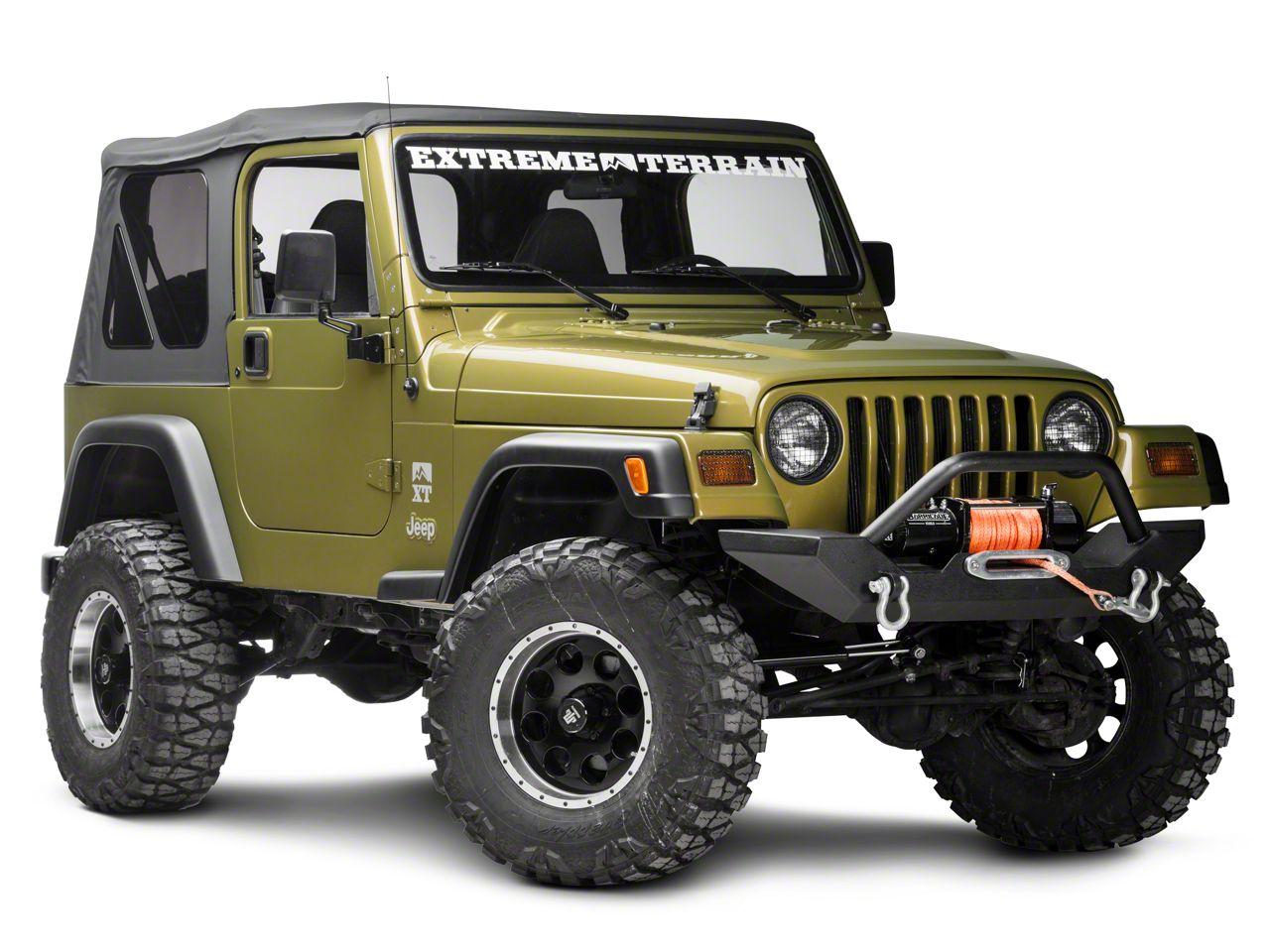 Rugged Ridge Black Stone Guard Set for Jeep Lights (97-06 Jeep Wrangler TJ)