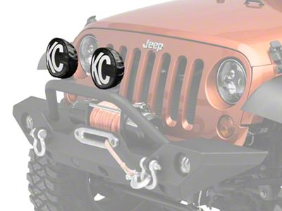 KC HiLiTES Black Vinyl Light Covers (87-18 Jeep Wrangler YJ, TJ, JK & JL)