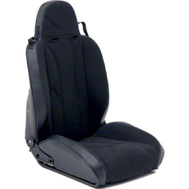 Smittybilt Driver Side XRC Racing Style Recliner Seat - Black (87-06 Jeep Wrangler YJ & TJ)