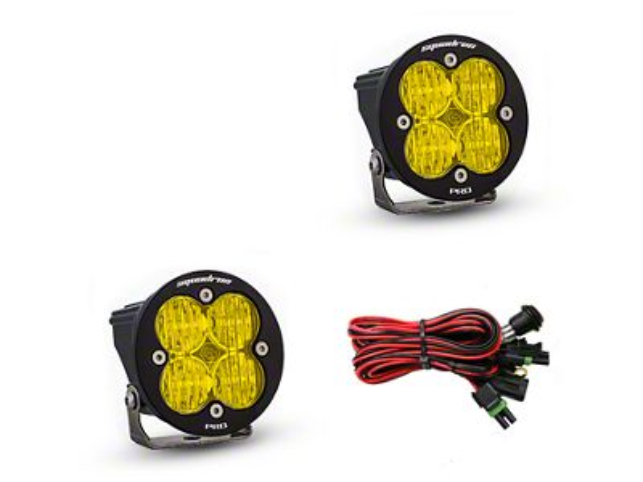Baja Designs Squadron-R Pro Amber LED Light - Wide Cornering Beam- Pair