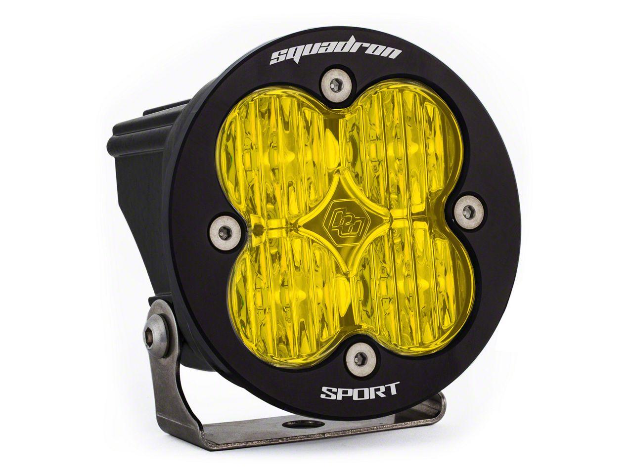 Baja Designs Squadron-R Sport Amber LED Light - Wide Cornering Beam