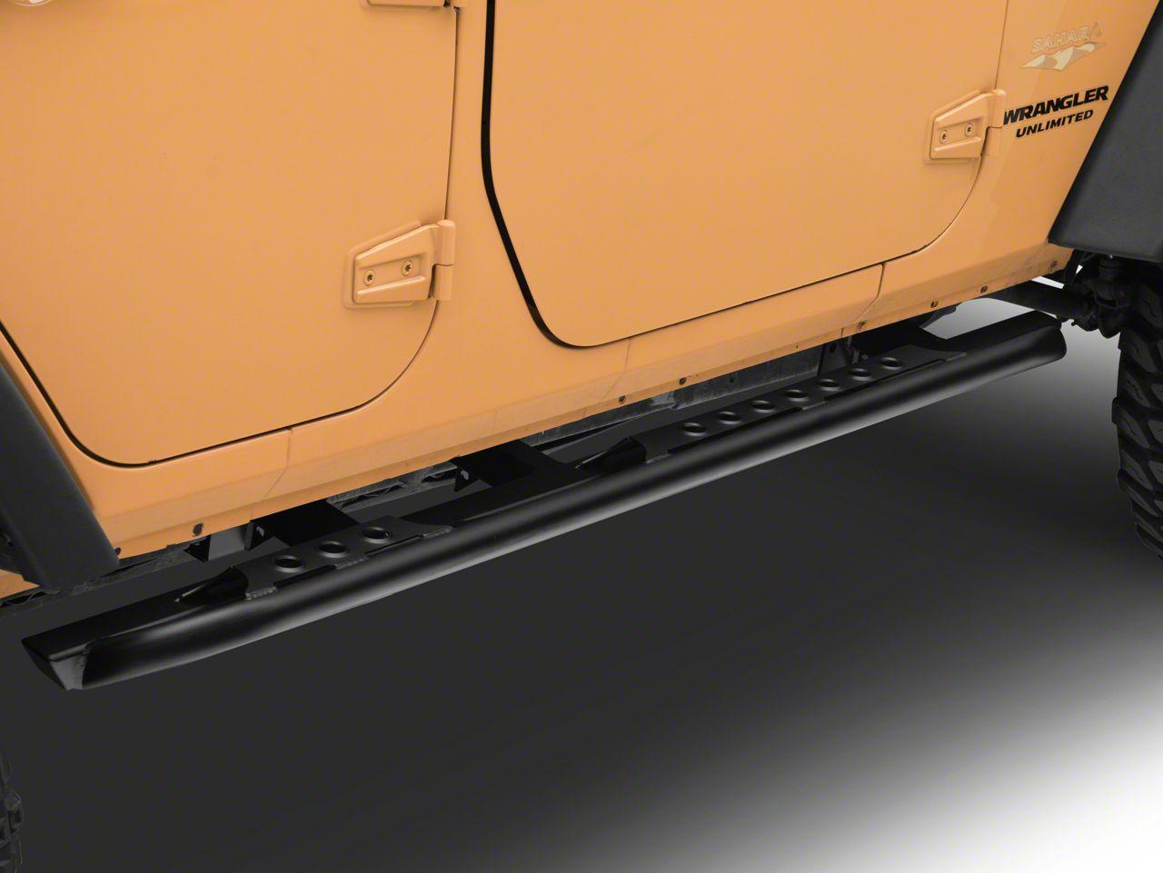 LoD Offroad Signature Series Rock Sliders - Textured Black (07-18 Jeep Wrangler JK 4 Door)