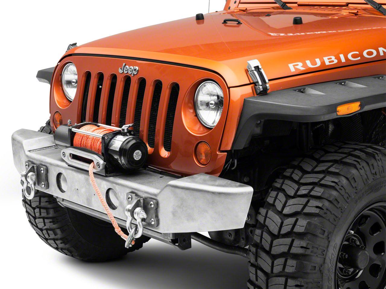 LoD Offroad Armor Lite Mid-Width Front Bumper - Bare Steel (07-18 Jeep Wrangler JK)
