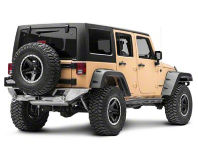 LoD Offroad Destroyer Shorty Rear Bumper - Bare Steel (07-18 Jeep Wrangler JK)