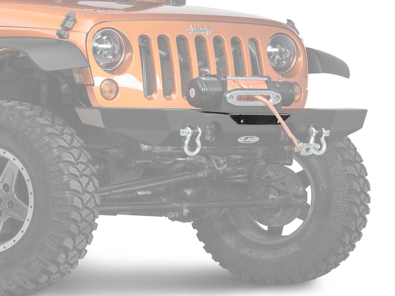 LoD Offroad Destroyer License Plate Mount - Bare Steel (07-18 Jeep Wrangler JK)