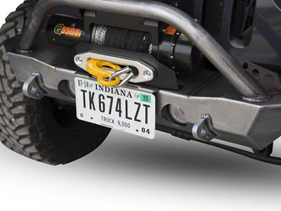 LoD Offroad Destroyer License Plate Mount - Textured Black (07-18 Jeep Wrangler JK)